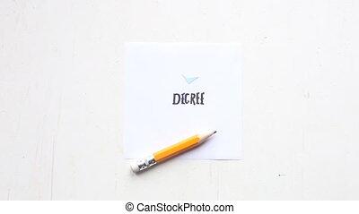 DEGREE idea - handwritten text - DEGREE concept, handwritten...