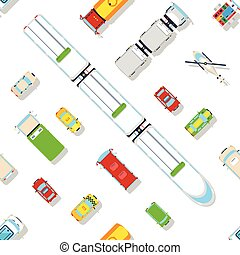Transport Top View Seamless pattern