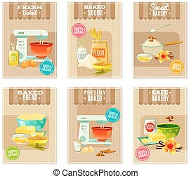 Baking Banners And Cards - Flat baking banners and cards for...