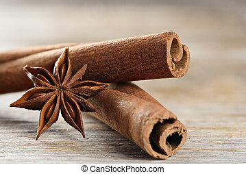 cassia also known as Cinnamomum Chinese and Star Anise....