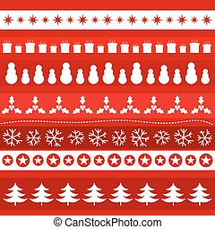 Christmas ornament pattern. Vector illustration