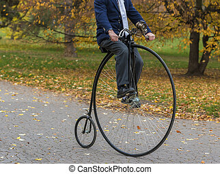Parc,  penny-farthing, Vélo