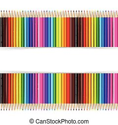 Abstract backgroud color pencil on white background with vector illustration 004