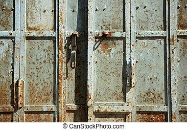 Weathered Metal Door