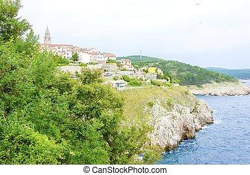 Vrbnik, Krk island, Croatia - Vrbnik town on Krk island,...