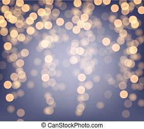 Purple and golden luminous background. - Festive purple and...