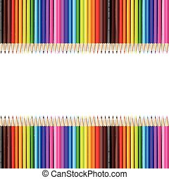 Abstract backgroud color pencil on white background with vector illustration 002