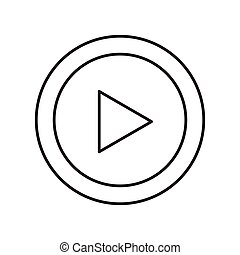 play movie button flat icon vector illustration design