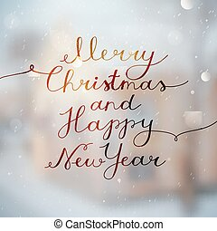 merry christmas lettering - merry christmas and happy new...