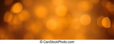 Sparkling orange party lights bokeh banner - Sparkling...