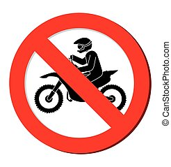 no motorcycle prohibition sign design vector illustration...