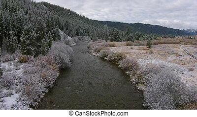 Beginning of winter Easley Creek idaho - Idaho Landscape...