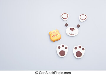 "cake decoration or homemade ""bear"" cake decoration on a..."