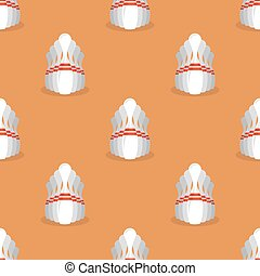 Bowling Pins Seamless Pattern - Bowling Pins Isolated on...