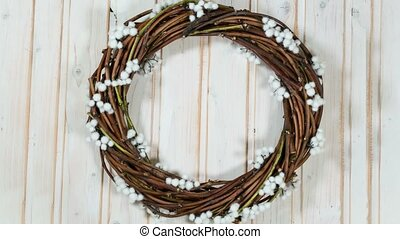 creating a Christmas wreath time lapse
