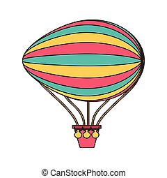balloon air zeppelin isolated icon vector illustration...