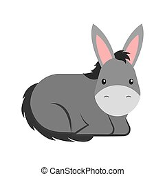 cute mule manger character vector illustration design