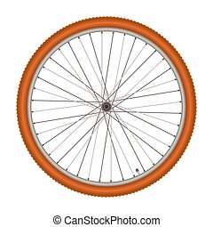 bicycle wheel on white background vector illustration -...