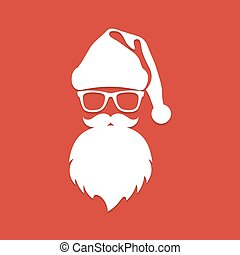 Santa Claus with beard and glasses