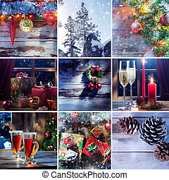 mix x-mas - merry christmas and new year theme collage...