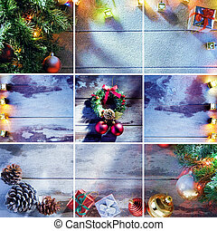 collage x-mas - merry christmas and new year theme collage...