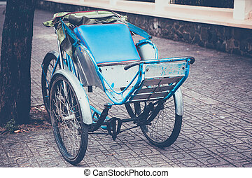 tricycle - Tradition of tricycle in Vietnam , retro tone