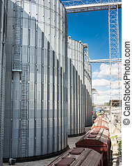 Agriculture. silos for storing grain