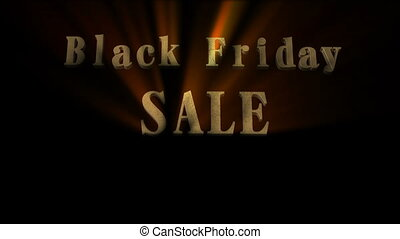 Black Friday Sale 3D Animation - Gold black friday sign with...