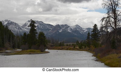 Salmon River Lower Stanley Idaho Sawtooth Range