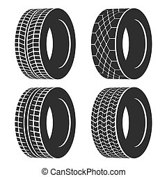 Car tire or rubber wheel for auto isolated. Tire or...