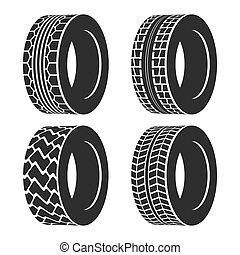 Truck or tractor, car tire, automobile wheel - Truck or...
