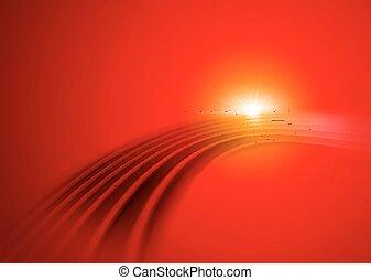 Futuristic Digital Background - Futuristic Red Digital...