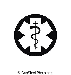 Medical symbol of the Emergency. Star of Life.