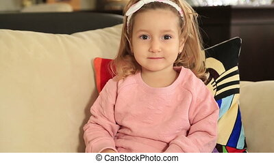 Portrait of a cute little girl - Portrait of a little girl...