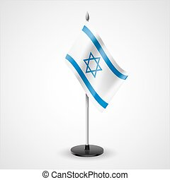 Table flag of Israel - State table flag of Israel. National...
