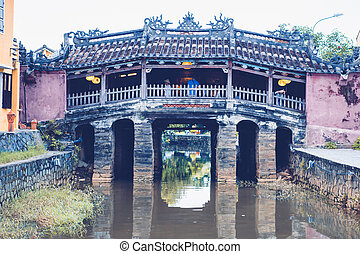 HOI AN - Japanese Covered Bridge in Hoi An Ancient Town,...