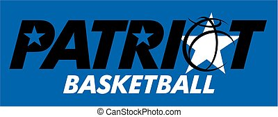 patriot basketball team design with ball and stars for...
