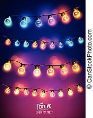Christmas Fairy Lights Set - A collection of various...
