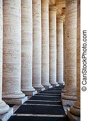 Vatican City buildings - Historical corridor in Vatican City