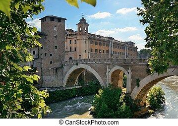 Pons Fabricius (Ponte dei Quattro Capi) is the oldest bridge...