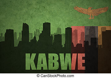 abstract silhouette of the city with text Kabwe at the...