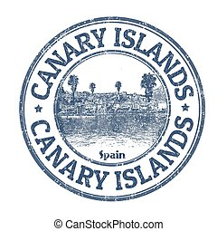 Canary Islands sign or stamp - Canary Islands grunge rubber...