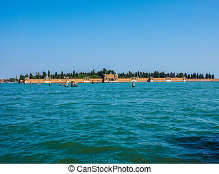 San Michele cemetery island in Venice HDR - HDR San Michele...