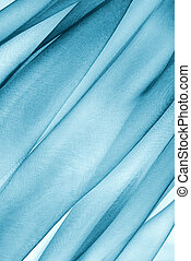 organza fabric in blue color