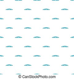 Blue water wave pattern, cartoon style