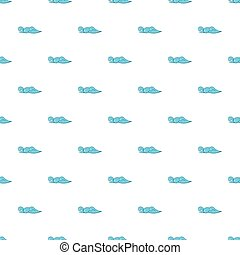 Ocean or sea wave pattern, cartoon style