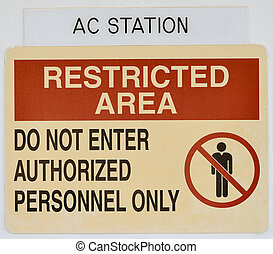 Notice restricted access people