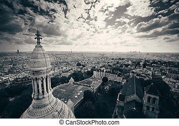 Sacre Coeur Cathedral - View from top of Sacre Coeur...