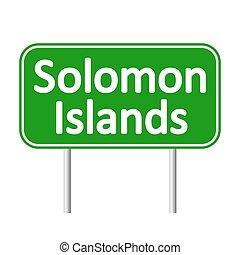 Solomon Island road sign. - Solomon Island road sign...