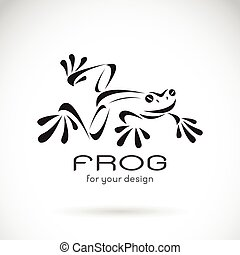 Vector image of a frog design on white background, Frog...